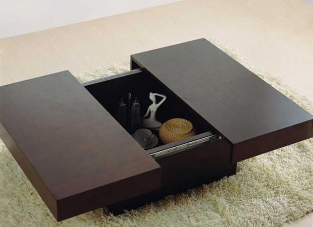 Wedo thiết kế phòng khách đẹp và tăng khả năng lưu trữ với bàn cafe 3