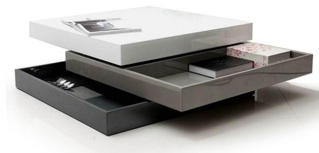Wedo thiết kế phòng khách đẹp và tăng khả năng lưu trữ với bàn cafe 5