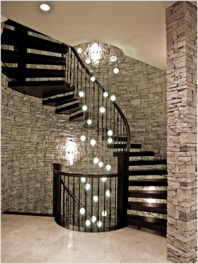 Wedo thiết kế cầu thang sang trọng, tráng lệ cho nhà hiện đại