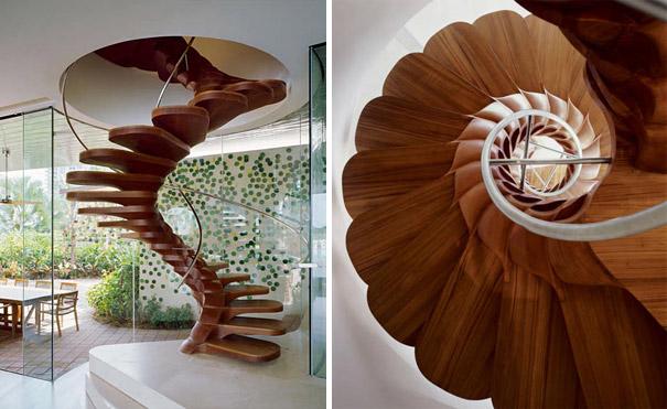 Wedo thiết kế cầu thang đẹp tráng lệ cho nhà thanh lịch