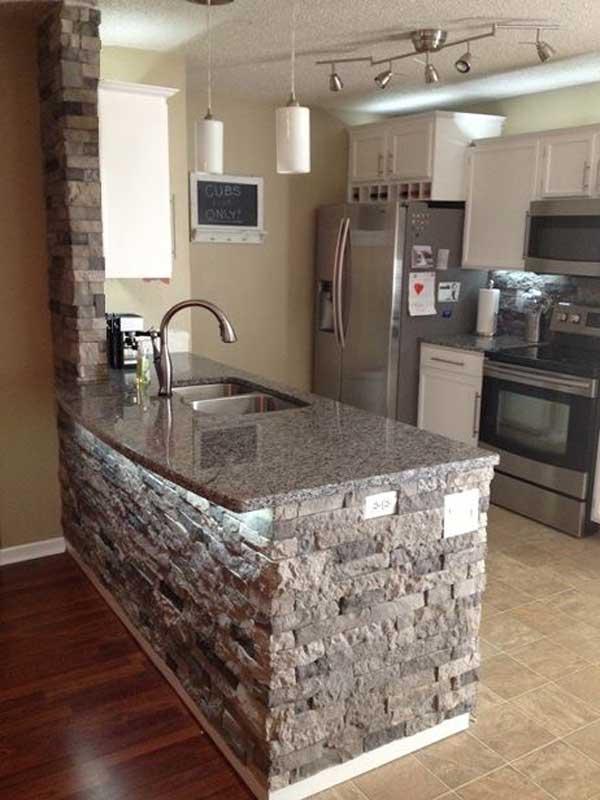 Wedo thiết kế nội thất nhà bếp đẹp với đá tự nhiên 6