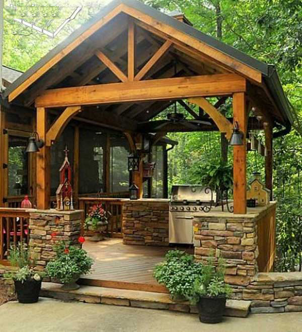 Wedo thiết kế nội thất nhà bếp đẹp với đá tự nhiên