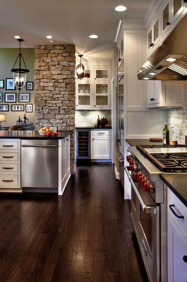 Wedo thiết kế nội thất nhà bếp đẹp với đá tự nhiên 14