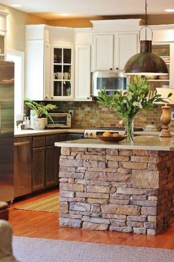 Wedo thiết kế nội thất nhà bếp đẹp với đá tự nhiên 17