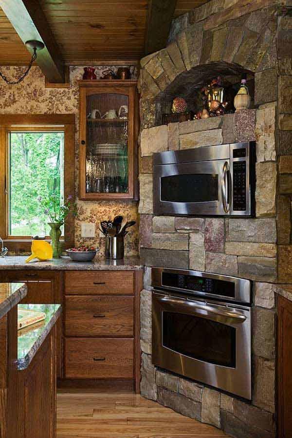 Wedo thiết kế nội thất nhà bếp đẹp với đá tự nhiên 2