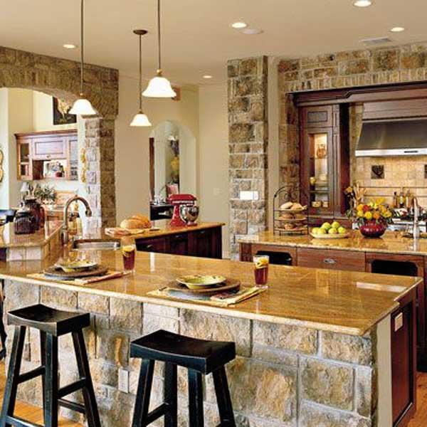 Wedo thiết kế nội thất nhà bếp đẹp với đá tự nhiên 3
