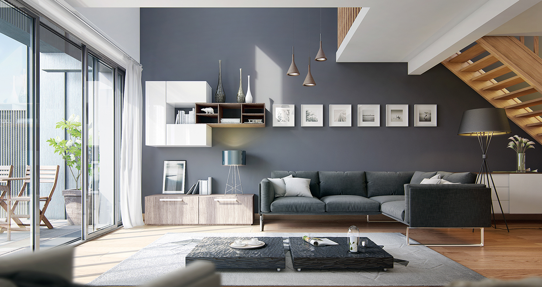 Wedo thiết kế nội thất phòng khách hiện đại,thoáng mát 3