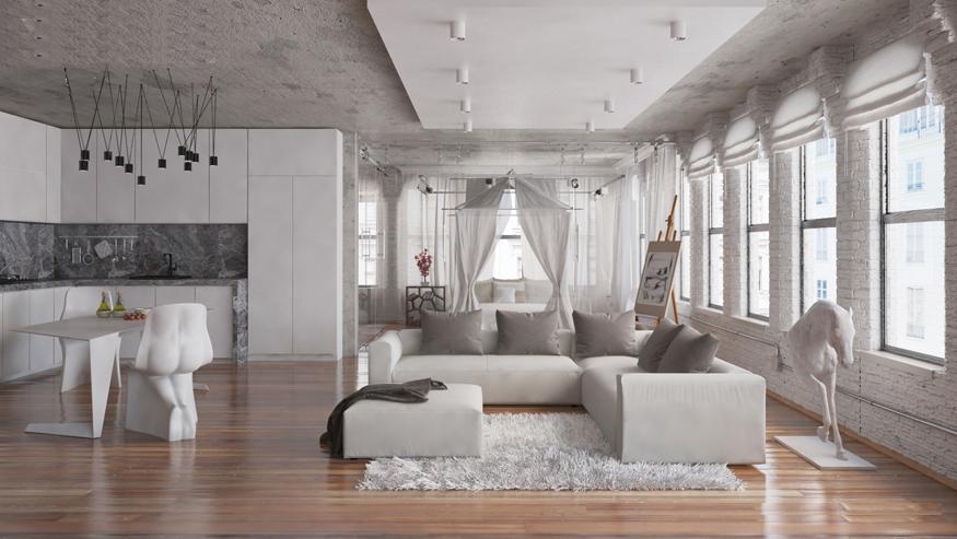 Wedo thiết kế nội thất phòng khách hiện đại,thoáng mát 7