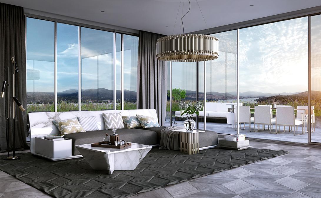 Wedo thiết kế nội thất phòng khách hiện đại,thoáng mát 14