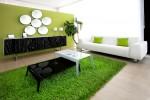Wedo thiết kế nội thất phòng khách trẻ trung, tươi sáng với màu xanh lá cây 5