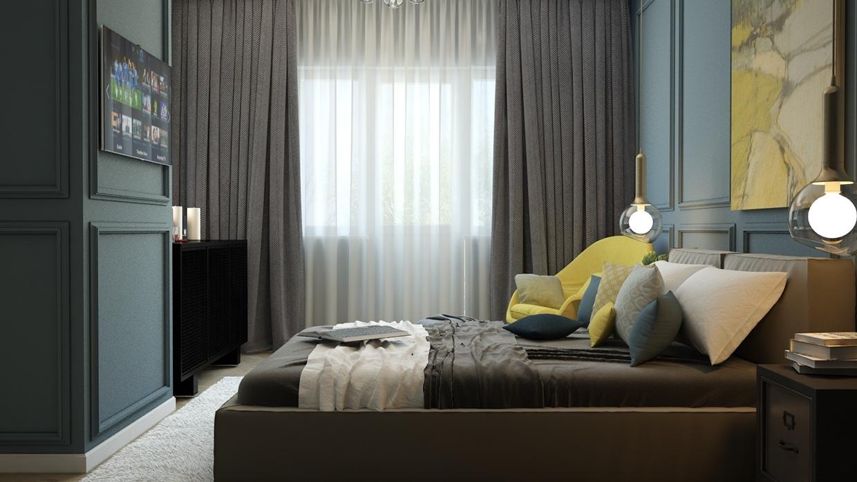 Wedo thiết kế nội thất phòng ngủ sáng tạo cho nhà đẹp với màu vàng tinh tế