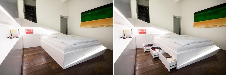Wedo thiết kế nội thất phòng ngủ sáng tạo với màu trắng
