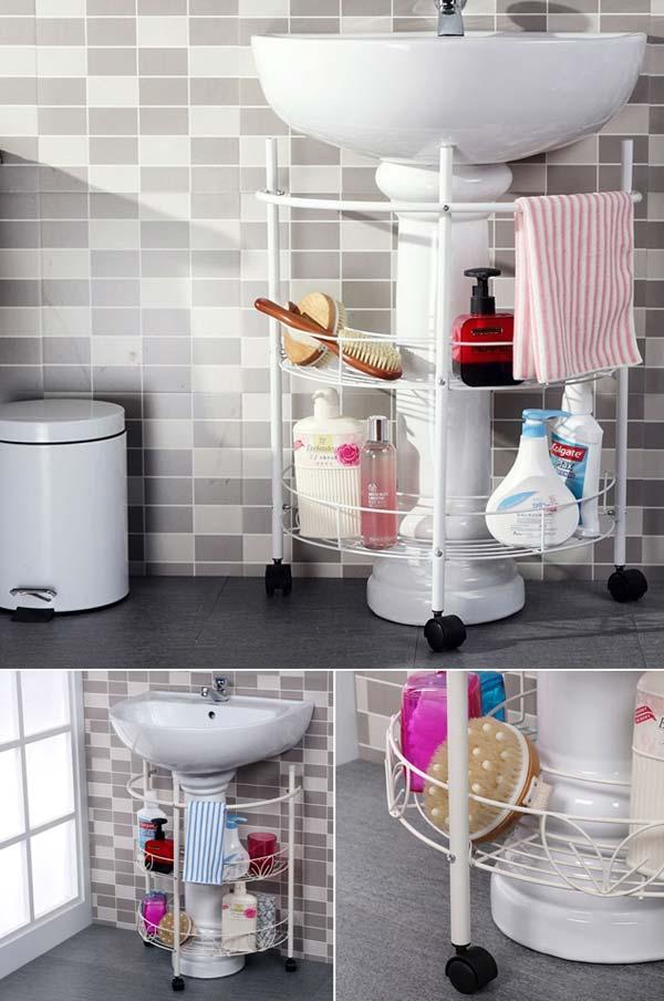 Tăng lưu trữ cho phòng tắm nhỏ với ý tưởng của wedo 2