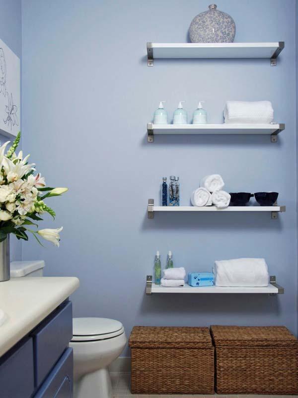 Tăng lưu trữ cho phòng tắm nhỏ với ý tưởng của wedo 18