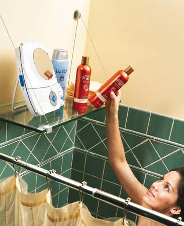 Tăng lưu trữ cho phòng tắm nhỏ với ý tưởng của wedo 9