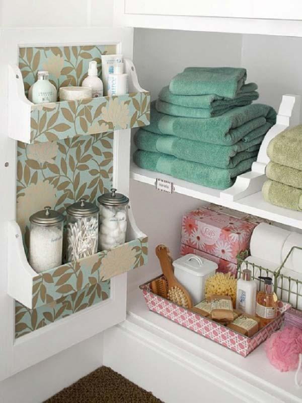 Tăng lưu trữ cho phòng tắm nhỏ với ý tưởng của wedo 23