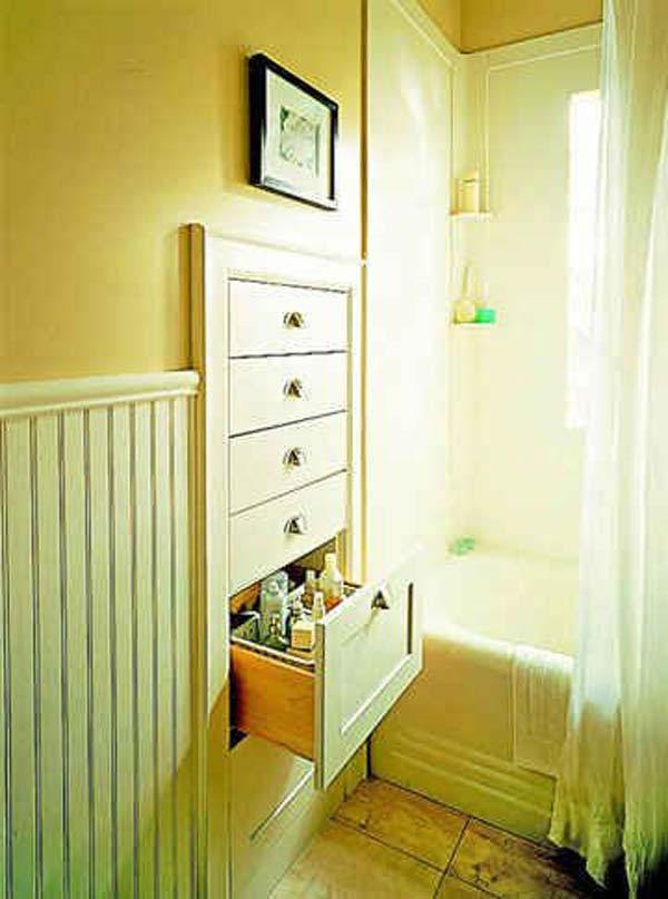 Tăng lưu trữ cho phòng tắm nhỏ với ý tưởng của wedo 27