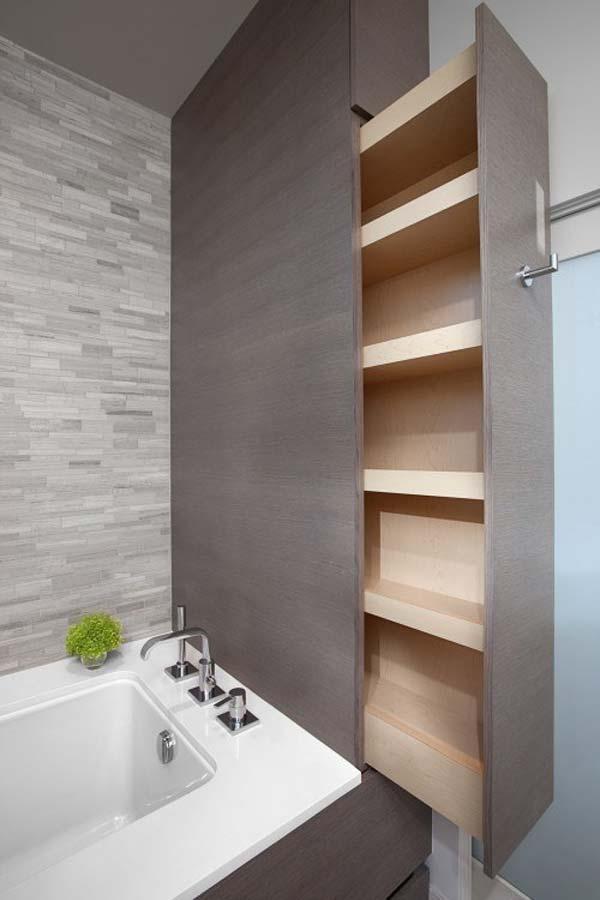 Tăng lưu trữ cho phòng tắm nhỏ với ý tưởng của wedo 16
