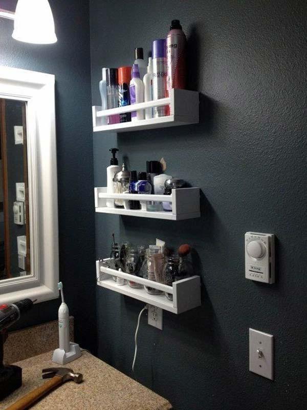 Tăng lưu trữ cho phòng tắm nhỏ với ý tưởng của wedo 1