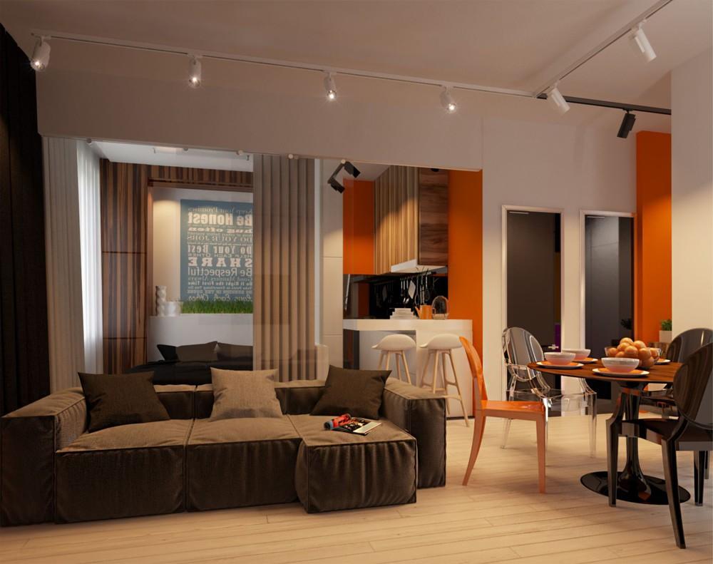 Wedo thiết kế nội thất phòng khách căn hộ cao cấp đơn giản, sáng tạo cho gia đình trẻ