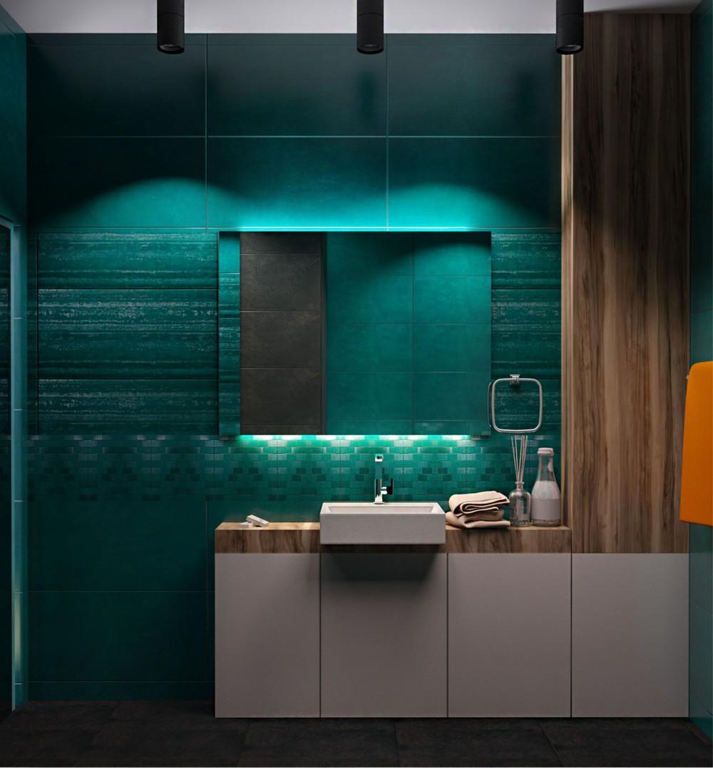 Wedo thiết kế nội thất phòng tắm căn hộ cao cấp đơn giản, sáng tạo cho gia đình trẻ
