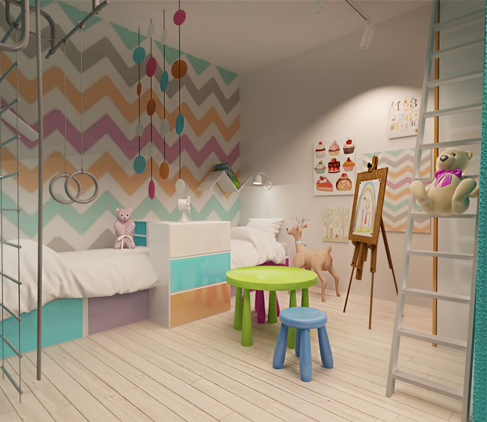 Wedo thiết kế nội thất phòng trẻ em căn hộ cao cấp đơn giản, sáng tạo cho gia đình trẻ