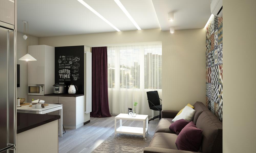 Wedo thiết kế nội thất phòng khách, nhà bếp và phòng ăn chung cư nhỏ đơn giản, sáng tạo