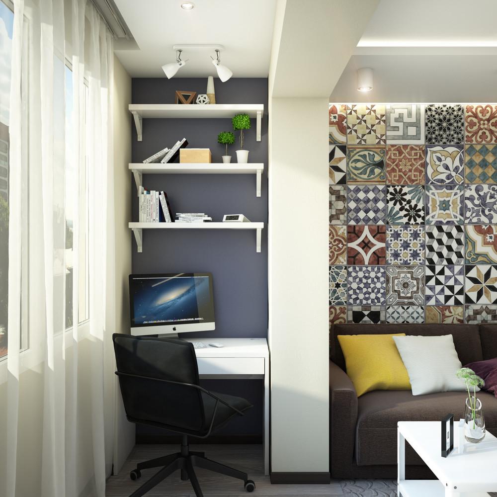 Wedo thiết kế nội thất phòng khách, góc làm việc chung cư nhỏ đơn giản, sáng tạo