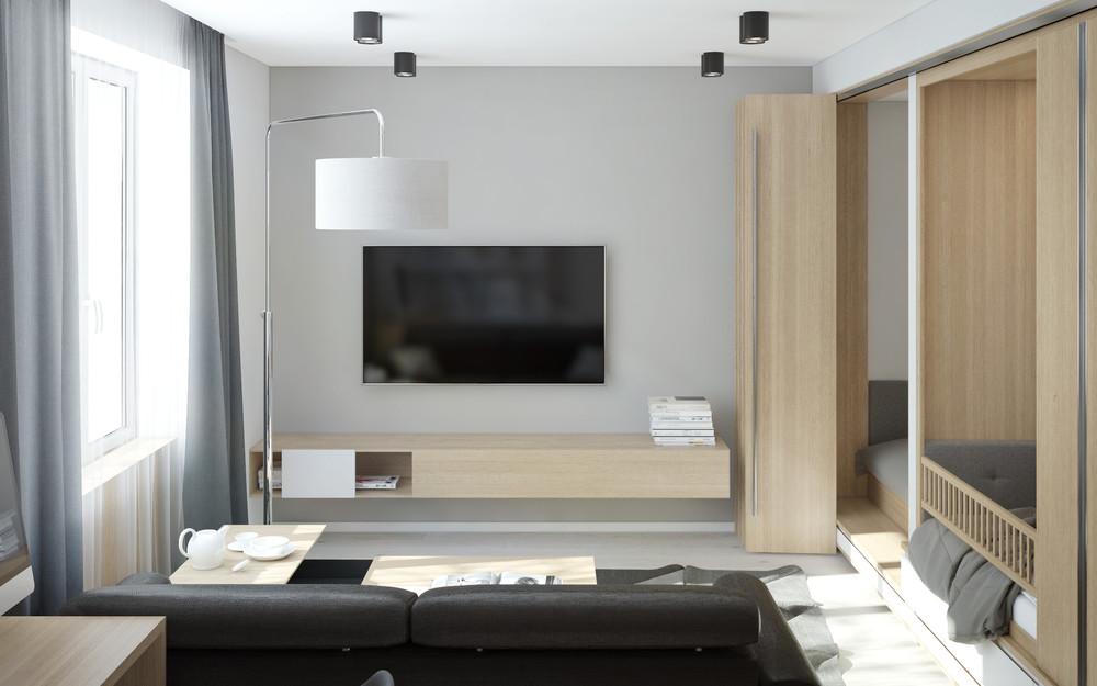Wedo thiết kế nội thất phòng khách chung cư nhỏ đơn giản, sáng tạo cho gia đình trẻ
