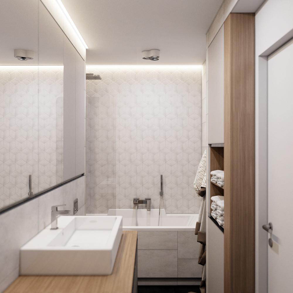 Wedo thiết kế nội thất phòng tắm chung cư nhỏ đơn giản, sáng tạo