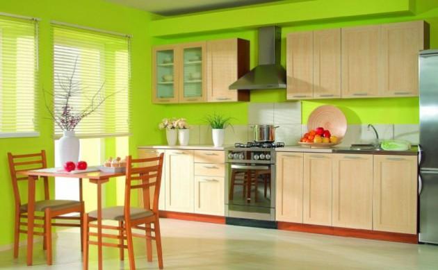 Wedo thiết kế nội thất đáng yêu và tươi mát cho nhà bếp với màu xanh lá cây và gỗ tự nhiên