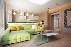 Wedo thiết kế nội thất phòng khách đẹp theo chủ đề màu xanh cốm