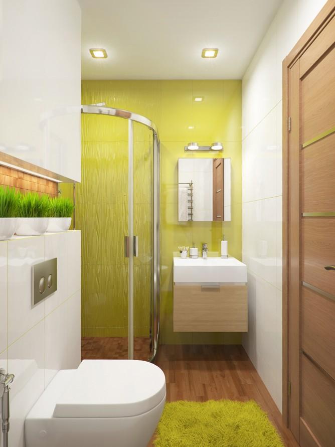 Wedo thiết kế nội thất phòng tắm màu xanh cốm theo chủ đề