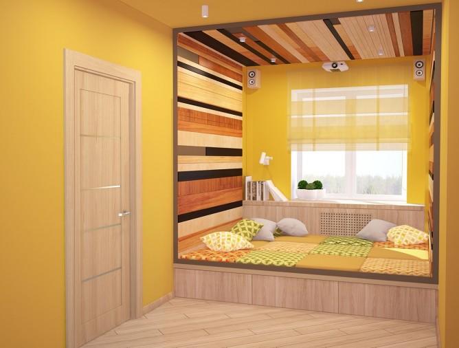Wedo thiết kế nội thất phòng trẻ em đẹp màu vàng theo chủ đề