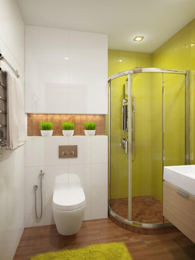 Wedo thiết kế nội thất phòng tắm đẹp theo chủ đề với màu xanh cốm
