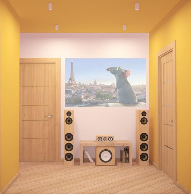Wedo thiết kế nội thất nhà đẹp theo chủ đề với màu cam tươi