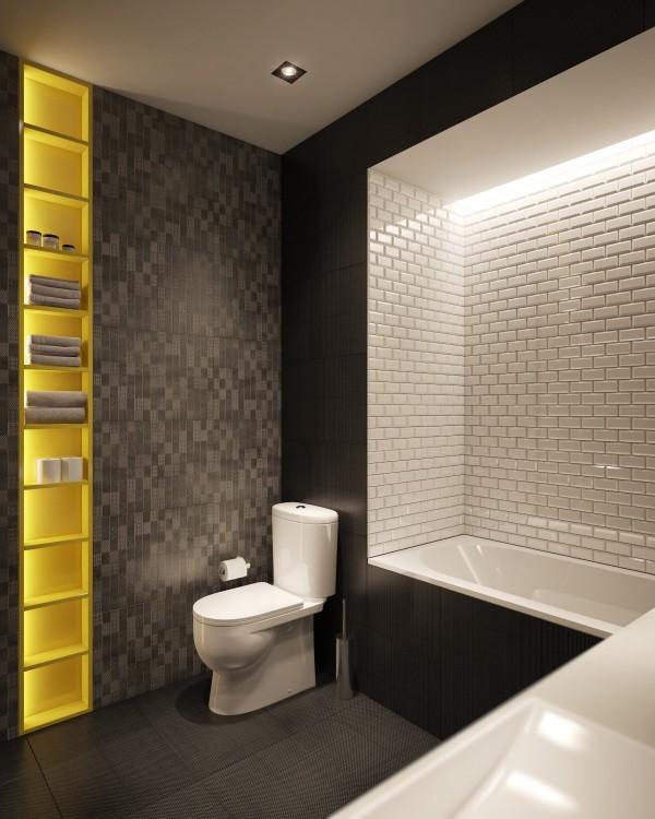 Wedo thiết kế nội thất phòng tắm đẹp, tươi sáng, đơn giản và đẳng cấp với gạch trần