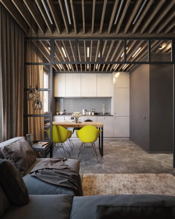 Wedo thiết kế nội thất phòng ăn đẹp, trầm ấm, đơn giản và đẳng cấp với gạch trần