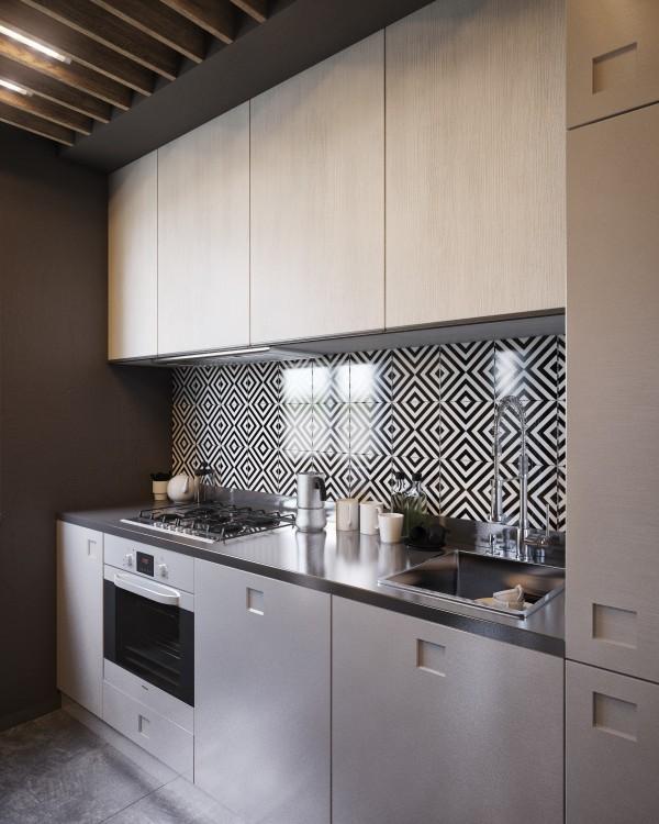 Wedo thiết kế nội thất nhà bếp đẹp, trầm ấm, đơn giản và đẳng cấp với gạch trần