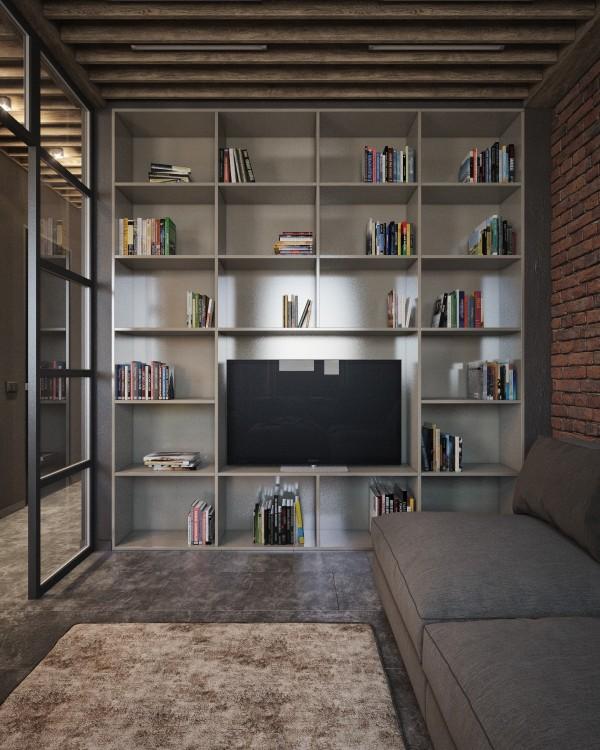 Wedo thiết kế nội thất phòng khách đẹp, trầm ấm, đơn giản và đẳng cấp với gạch trần