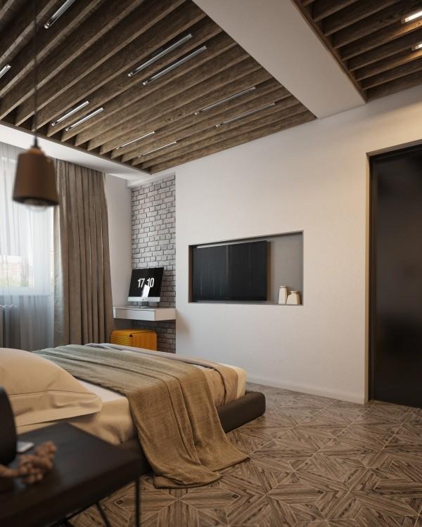 Wedo thiết kế nội thất phòng ngủ đẹp, trầm ấm, đơn giản và đẳng cấp với gạch trần