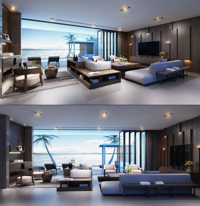 Wedo thiết kế nội thất phòng khách hiện đại, sang trọng
