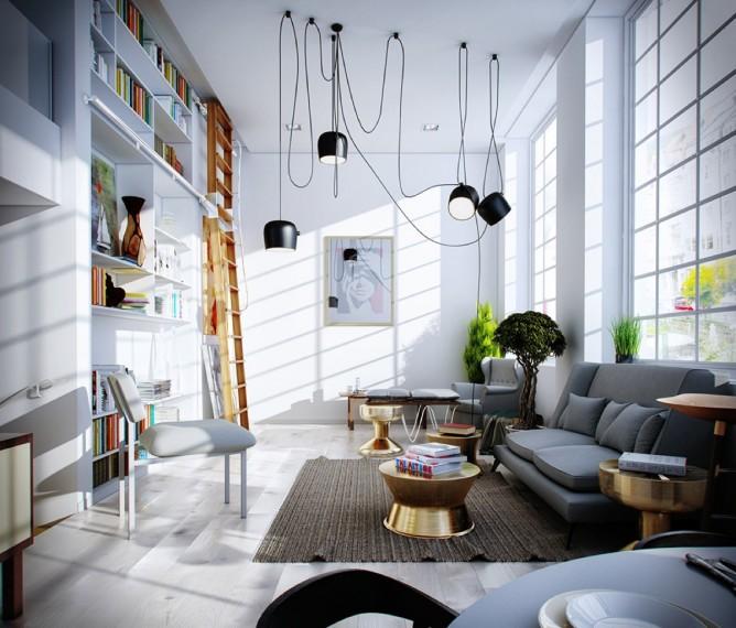 Wedo thiết kế nội thất phòng khách hiện đại, đơn giản mà trẻ trung và sang trọng