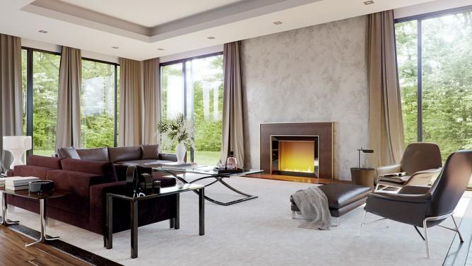 Wedo thiết kế nội thất phòng khách sang trọng, tươi sáng, trẻ trung