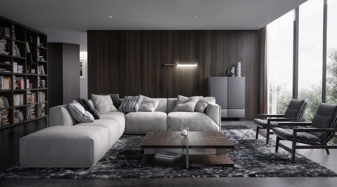 Wedo thiết kế nội thất phòng khách hiện đại, sang trọng và ấm áp