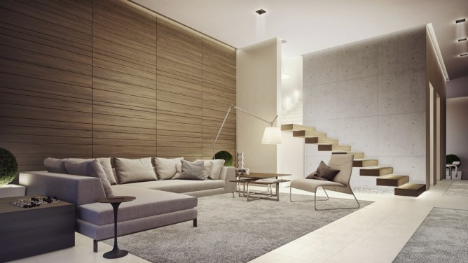 Wedo thiết kế nội thất phòng khách tươi sáng, trẻ trung và nhẹ nhàng