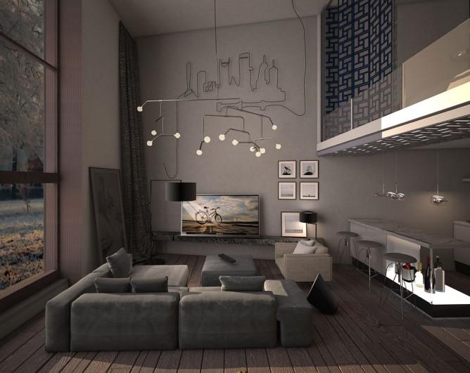Wedo thiết kế nội thất phòng khách đơn giản, hiện đại và tinh tế