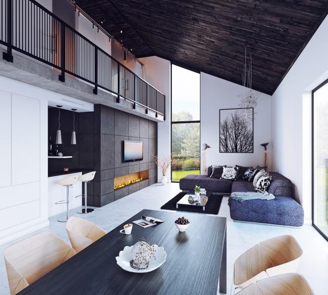 Wedo thiết kế nội thất phòng khách ấm áp với màu trầm hiện đại