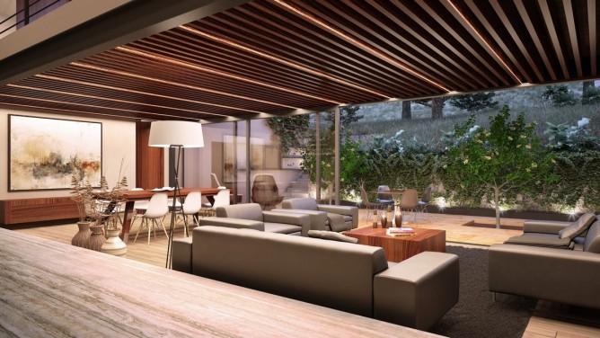Wedo thiết kế nội thất phòng khách mở hiện đại, sang trọng