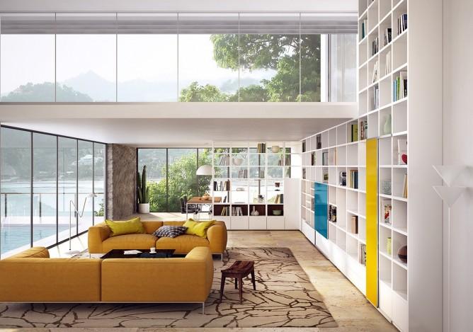 Wedo thiết kế nội thất phòng khách trẻ trung, tươi sáng và hiện đại